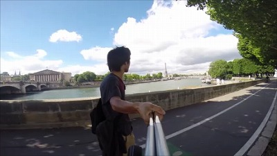 パリスケートボードクルーズ